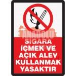 İSG-22 Sigara İçmek ve Açık Alev Kullanmak Yasaktır