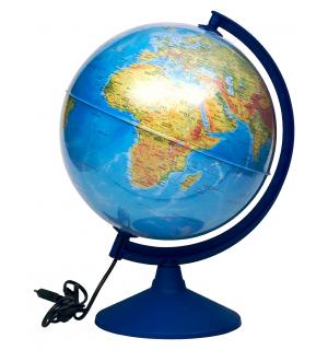Işıklı Yazılabilir Fiziki Küre 30 cm (Fiziki + Siyasi)